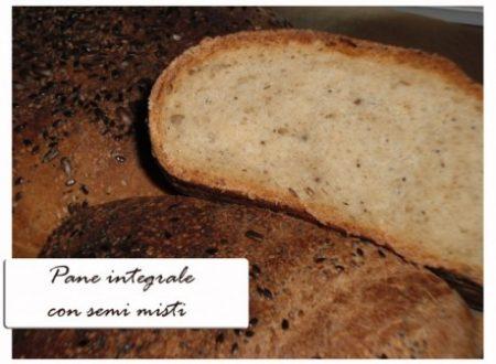 Pane integrale con semi misti