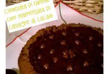 crostata di farro con crema di marroni al cacao