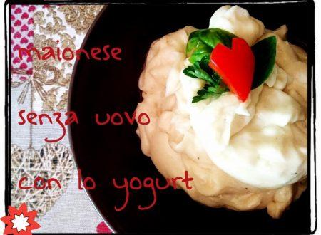 Maionese allo yogurt senza uova