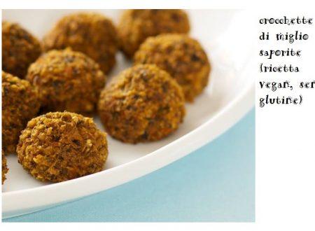 Crocchette di miglio saporite (ricetta vegan, senza glutine)